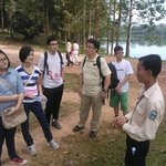 Mr Dara on the right explaining the history of Angkor Wat