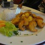 el otro plato, tempura de camarones