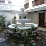Fountain at the groundfloor courtyard