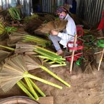 Broom making initiative for local women