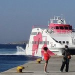 Catching the ferry to Naxos