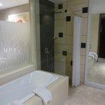 deluxe pool bathroom