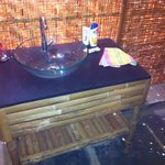 The beautiful washing basin in bathroom, probably i choosed the room because of this!