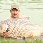 my fist carp of 75/lbs........