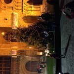 Christmas tree at West Front of Cathedral