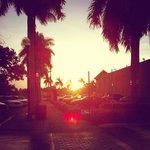 Sonnernaufgang vor dem Hotel