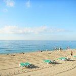 Чистейшее Красное море, хороший пляж (мелкая галька).