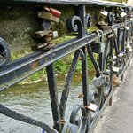 One of many bridges to Užupis