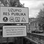 Sign at the border of Užupis