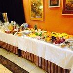 Wonderful continental breakfast table