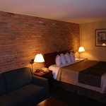 Loved the brick feature wall.  Very warm decor