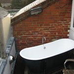 View of the bath on the balcony