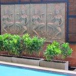 nice decorations near the pool