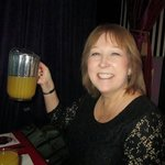 Sher with a pitcher of fabulous mimosa