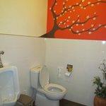 common toilet spotless clean