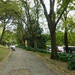 だいぶ歩いた所の公園
