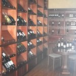 Check out the wine cellar!