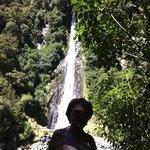 Margot na Cachoeira Ohau