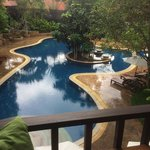 View from room over pool area