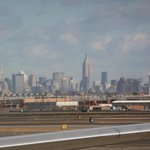 Our first view of New York from Newark airport