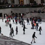 Ice skating at the Rockefeller Center