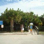 beach access path, very short walk