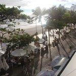 Aussicht auf Strand von Ipanema mit Restaurant des Arpoador Inn