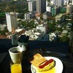 Petit déjeuner en altitude