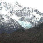 Glaciar colgante desde el Fitz Roy