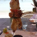 brochettes poisson/camaron