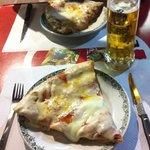 la pizza di Mimmo e un boccale di birra... accoppiata perfetta