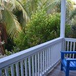 Balcon côté piscine