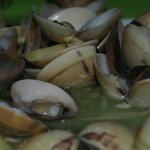 Steamed Clams with Ginger and Garlic