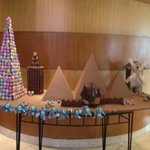 Chocolate Display in the Lobby