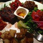 My steak dinner…already started eating it!!