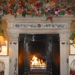 Christmas Fireplace in the Drawing room