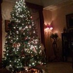 Christmas tree in front parlor