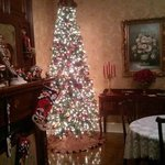 Christmas tree in dining area