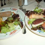 Foie gras mi-cuit et frais et assiette réellement gourmande