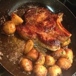 Veal Chop with roasted potatoes