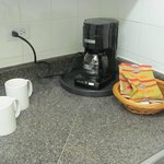 Coffee maker in the kitchen.