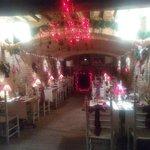 Sala ristorante in periodo  natalizio