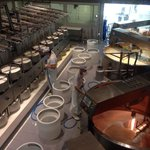 Cheese vats and rounds.