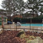 Pool. Adjacent to bath house and playground.