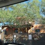 Entrance to pueblo style Halona Inn.