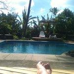 La piscina esta bonita