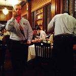 Waiters pleased to serve.