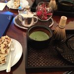 Matcha tea in Kempinski hotel