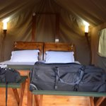 Inside of the tent