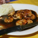 shrimp with tamarind sauce and rice